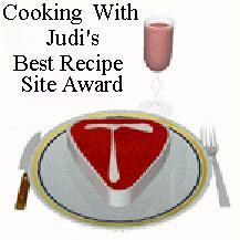 Cooking With Judi's award